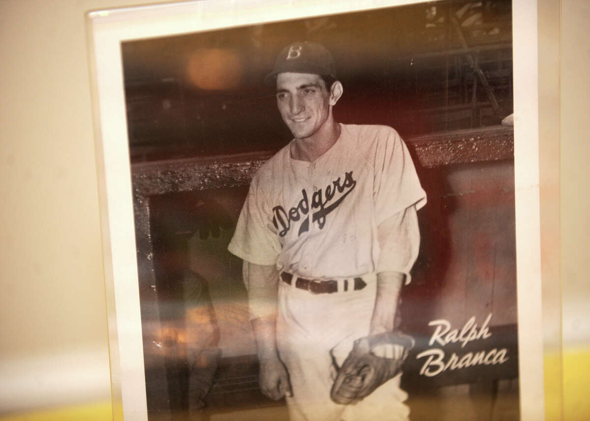A picture of Ralph Branca during his days with the Brooklyn Dodgers.