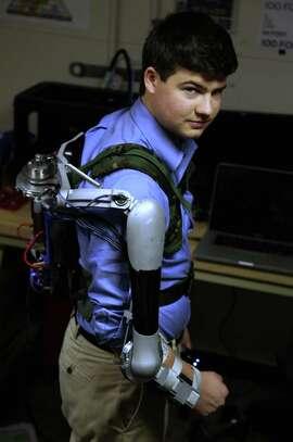 Nick McGill, University of Pennsylvania, in a Titan Arm.
