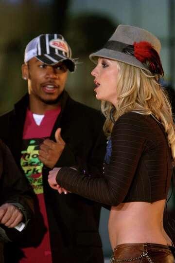 Columbus Short, as ballcapped dancer for Britney Spears ...