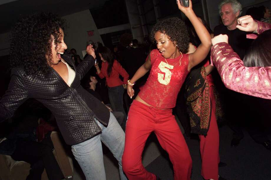 "Long before Kerry Washington became one of TV's biggest stars, she was in the 2001 movie, ""Save the Last Dance."" She's pictured showing off some moves at a party at Columbia University in 2002.  Photo: Evan Agostini, Getty Images / Getty Images North America"