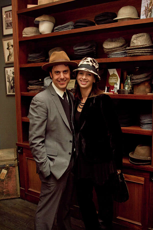 Ben Goorin, the fourth-generation head of the hat company, stands in his North Beach shop with wife Carrie Goorin. Photo: Courtesy, Melissa De Mata