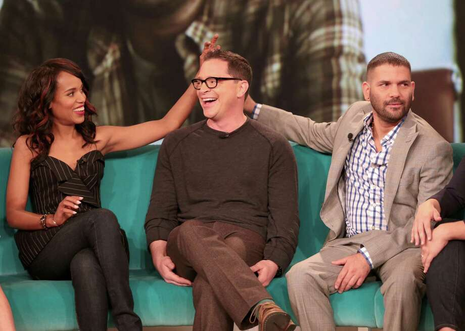 "Kerry Washington, Joshua Malina and Guillermo Diaz have some fun on ""The View"" in May 2013.  Photo: Fred Lee, Getty Images / 2013 American Broadcasting Companies, Inc."