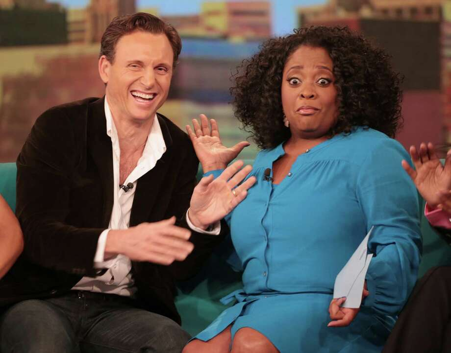 "The aftermath of Tony Goldwyn's kiss with Sherri Sherpherd on ""The View"" in May 2013.   Photo: Fred Lee, Getty Images / 2013 American Broadcasting Companies, Inc."