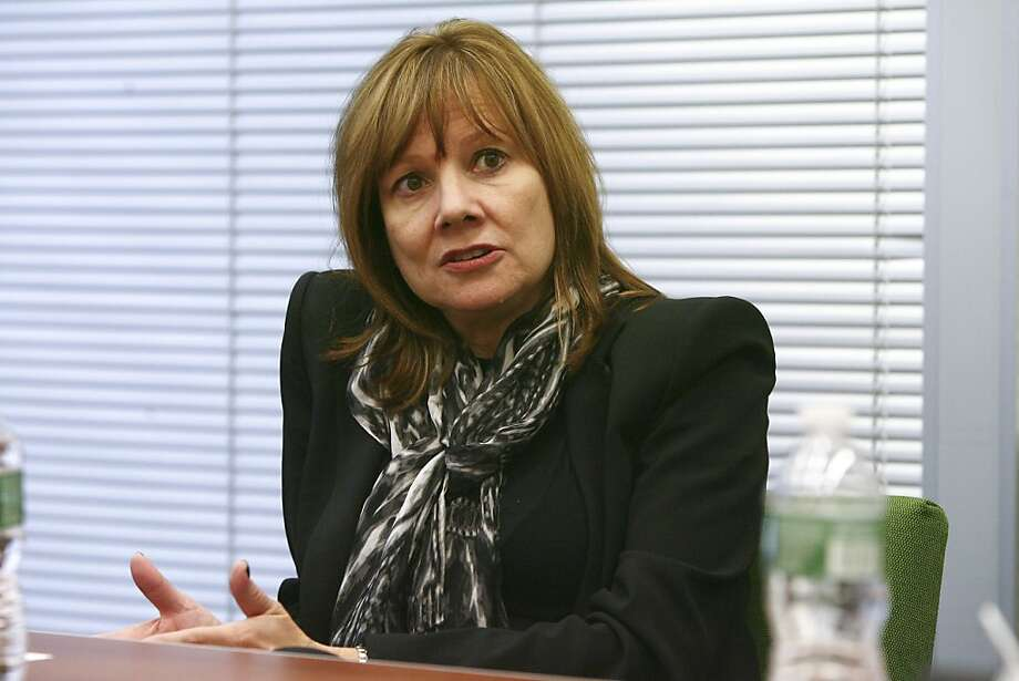 Mary Barra, GM's chief of product development, will succeed Dan Akerson as CEO next month. Photo: Earl Wilson, New York Times