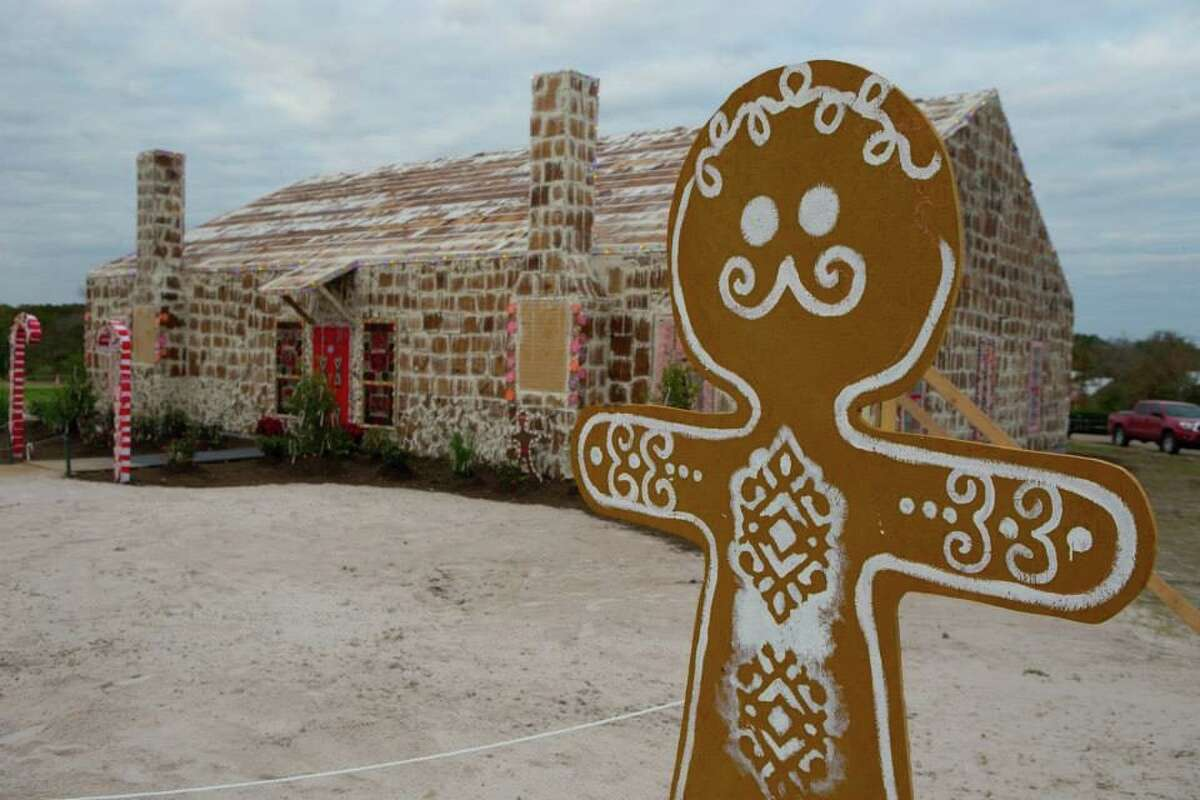 Traditions Club in Bryan has built the world's largest gingerbread house, measuring 39, 201.8 square feet. The house was 18.28 m (60 ft) long, 12.8 m (42 ft) wide and 18.28 m (10.1 ft) tall at its highest point.   Source: Guinness World Records