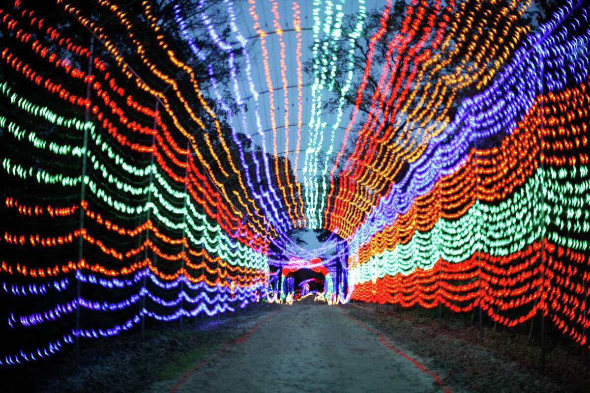 Santa's Wonderland 18898 Texas 6 Frontage Road College Station, Texas, 77845 While the lights are beautiful, there's also Christmas movies on outdoor screens, hay rides and a petting zoo.