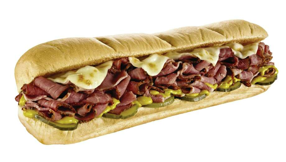 Pastrami sandwich fixed up Subway style