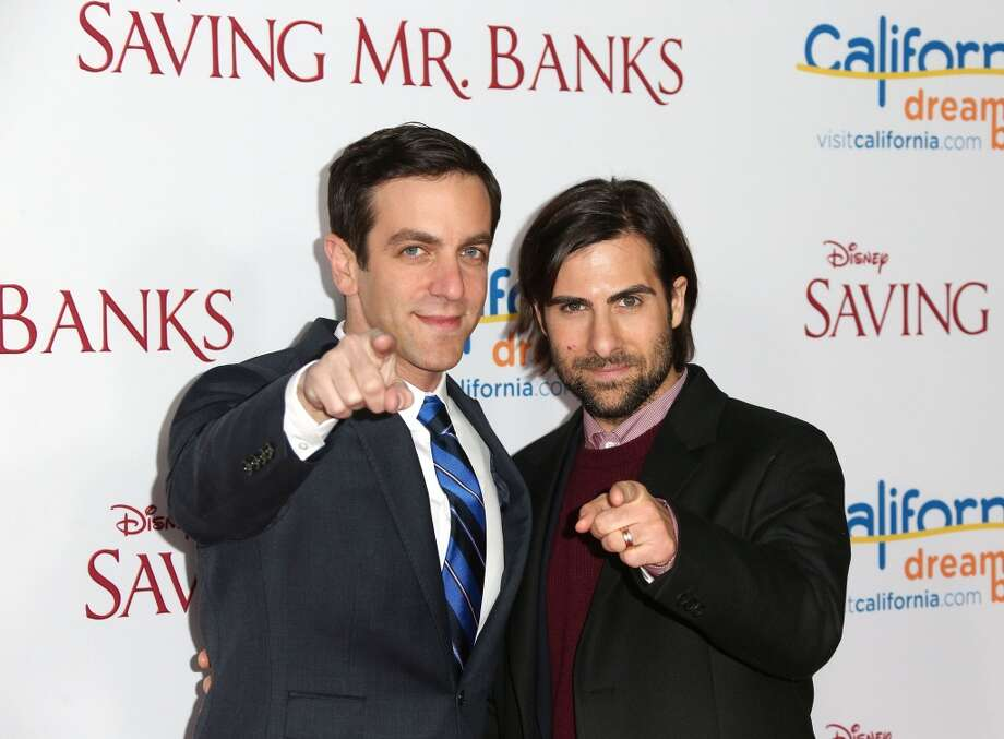 "Actors B. J. Novak (L) and Jason Schwartzman attend the Premiere of Disney's ""Saving Mr. Banks"" at Walt Disney Studios on December 9, 2013 in Burbank, California.  (Photo by Frederick M. Brown/Getty Images) Photo: Frederick M. Brown, Getty Images"