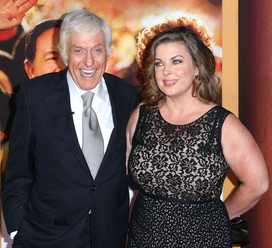 """Actor Dick Van Dyke (L) and his guest attend the Premiere of Disney's """"Saving Mr. Banks"""" at Walt Disney Studios on December 9, 2013 in Burbank, California.  (Photo by Frederick M. Brown/Getty Images) Photo: Frederick M. Brown, Getty Images"""