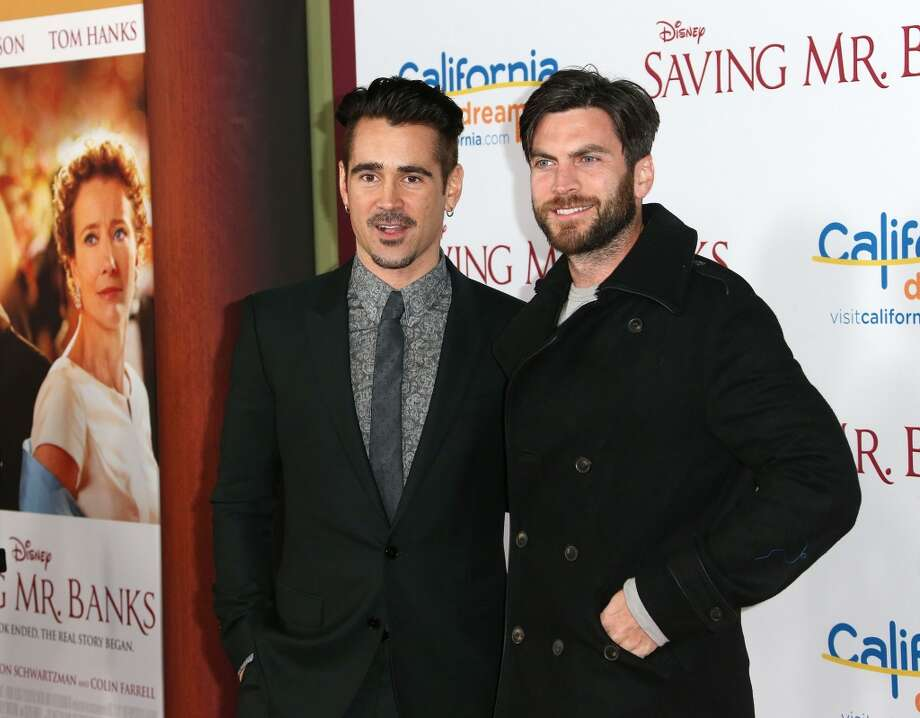 "Actor Colin Farrell (L) and actor Wes Bentley attend the Premiere of Disney's ""Saving Mr. Banks"" at Walt Disney Studios on December 9, 2013 in Burbank, California.  (Photo by Frederick M. Brown/Getty Images) Photo: Frederick M. Brown, Getty Images"