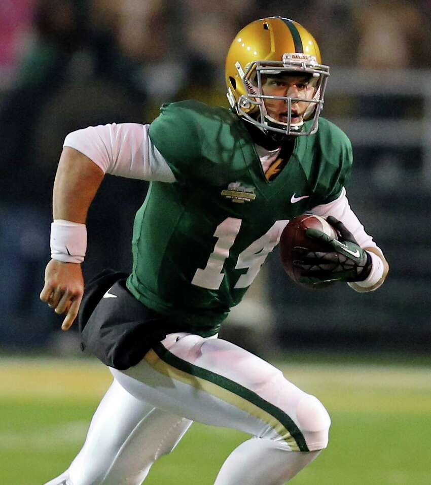 A look at the Express-News college football All-Texas superlatives and team for 2013: Offensive player of the year -- Bryce Petty, Baylor, 6-3, 230, Jr., Midlothian. Some might question why defending Heisman Trophy winner Johnny Manziel didn't win the award. Petty's statistics (3,844 passing yards, 30-to-2 touchdown/interception ratio and 11 rushing touchdowns) were equal. And the fact that Petty led Baylor to its first BCS bowl berth in history, while nailing down an 11-1 record serves as the tiebreaker.