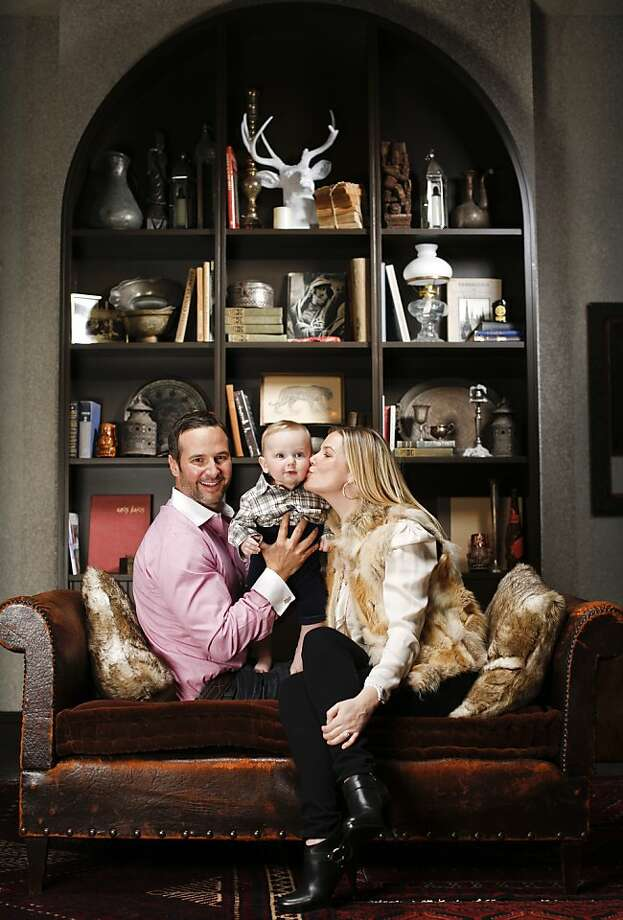 Anna Weinberg and James Nicholas, owners of Marlowe and Park Tavern, are seen with their son, Leo Nicholas, in their new San Francisco, Calif., restaurant, The Cavalier, on Wednesday, Dec. 4, 2013. Photo: Russell Yip, The Chronicle