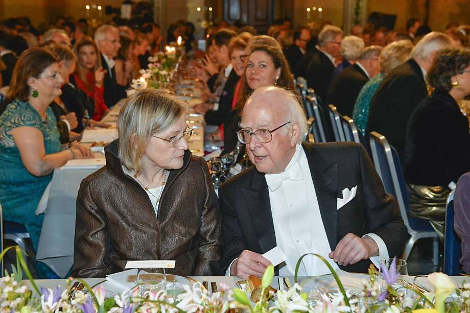 Sister of the Swedish King, Princess Christina also known as Christina Magnuson, left, chats with Nobel laureate Martin Karplus at the traditional Nobel gala banquet at the Stockholm City Hall, Tuesday, Dec. 10, 2013, following the Nobel Prize award ceremonies for Medicine, Physics, Chemistry, Literature and Economic Sciences. Photo: Henrik Montgomery, Associated Press