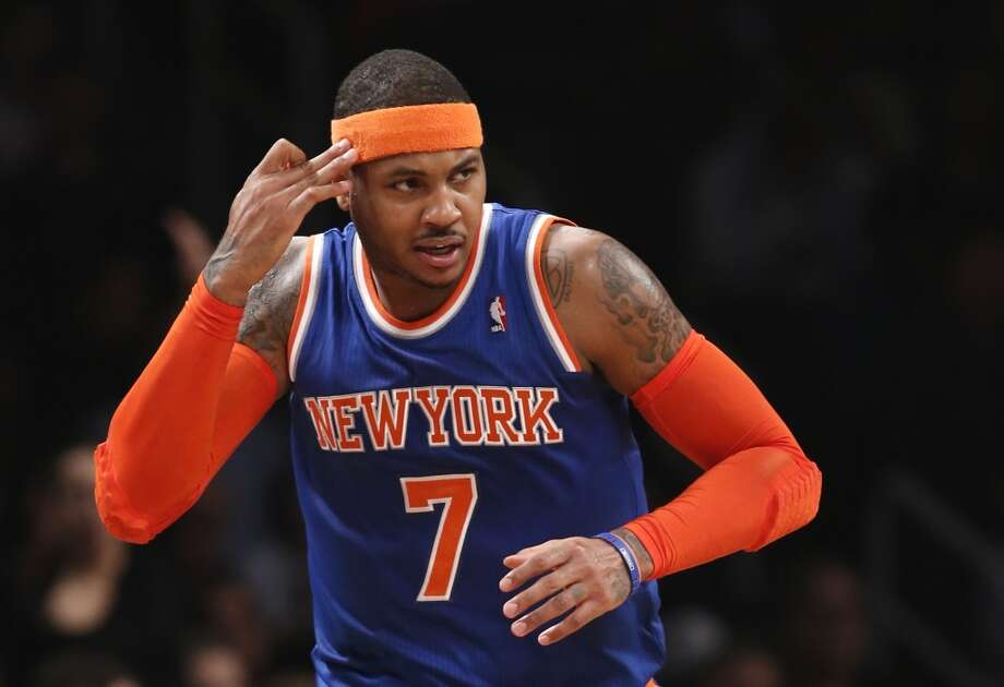 5. Carmelo Anthony  Team: New York Knicks  Position: Small forward  Money owed this season: $21,388,953 Photo: Kathy Willens, Associated Press