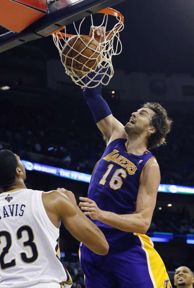 7. Pau Gasol  Team: Los Angeles Lakers  Position: Power forward/Center  Money owed this season: $19,285,850 Photo: Bill Haber, Associated Press