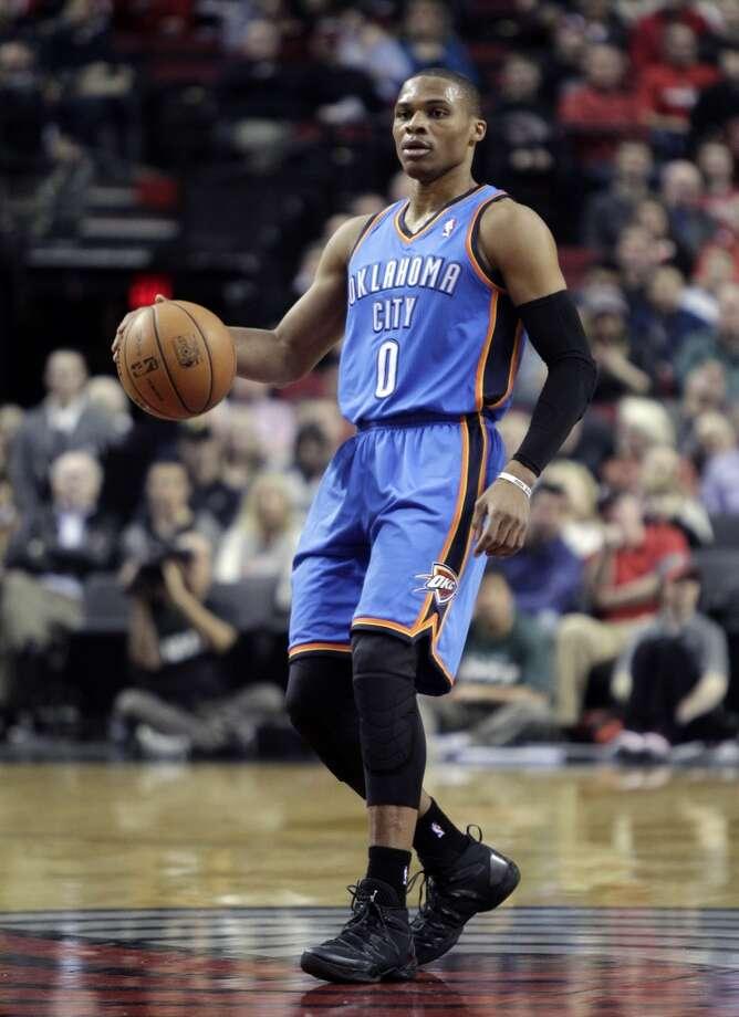 24. Russell Westbrook  Team: Oklahoma City Thunder  Position: Point guard  Money owed this season: $14,693,906 Photo: Don Ryan, Associated Press
