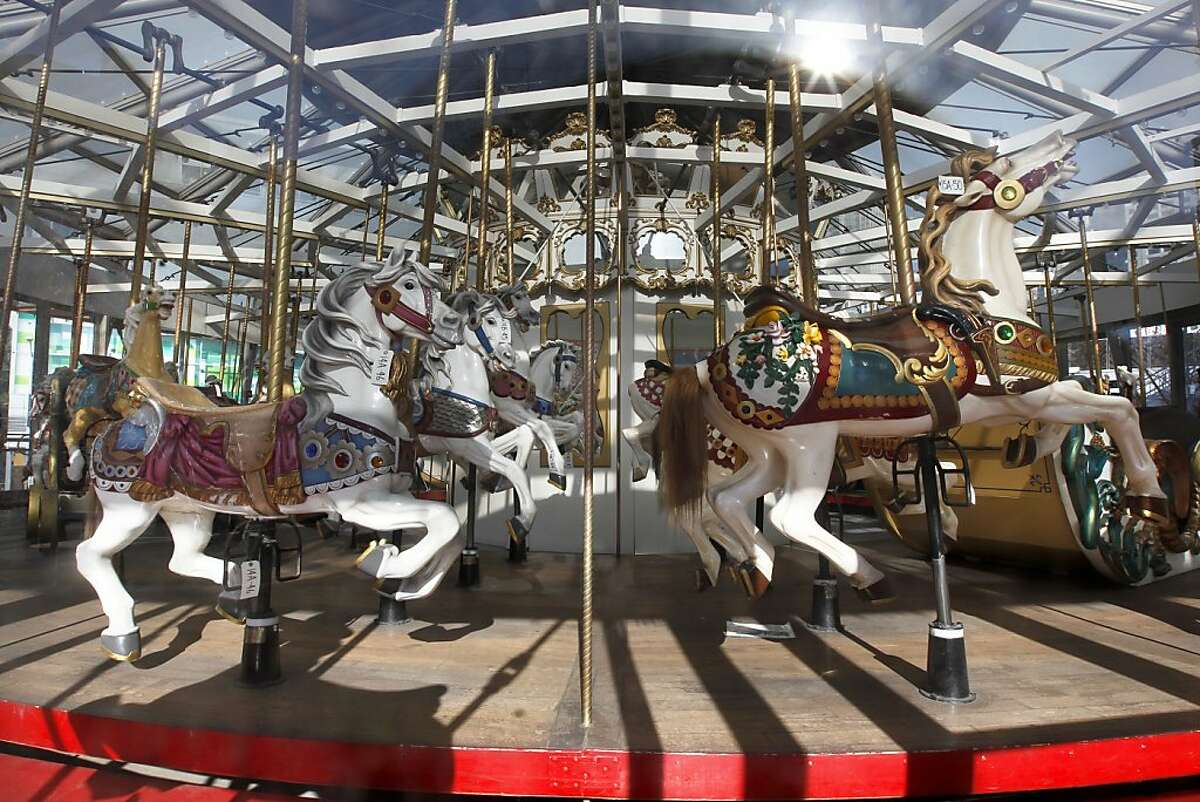 The 107-year-old carousel at the Children's Creativity Museum closed in September for repairs. Officials hope it will be done by mid-April or early May.