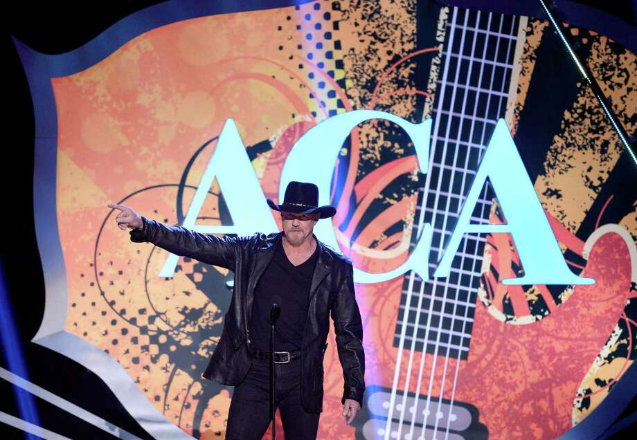 LAS VEGAS, NV - DECEMBER 10:  Co-host Trace Adkins speaks onstage during the 2013 American Country Awards at the Mandalay Bay Events Center on December 10, 2013 in Las Vegas, Nevada. Photo: Ethan Miller, Getty Images / 2013 Getty Images