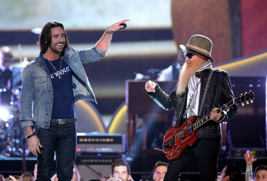 LAS VEGAS, NV - DECEMBER 10:  Recording artists Jake Owen (L) and Billy Gibbons perform onstage during the 2013 American Country Awards at the Mandalay Bay Events Center on December 10, 2013 in Las Vegas, Nevada. Photo: Ethan Miller, Getty Images / 2013 Getty Images