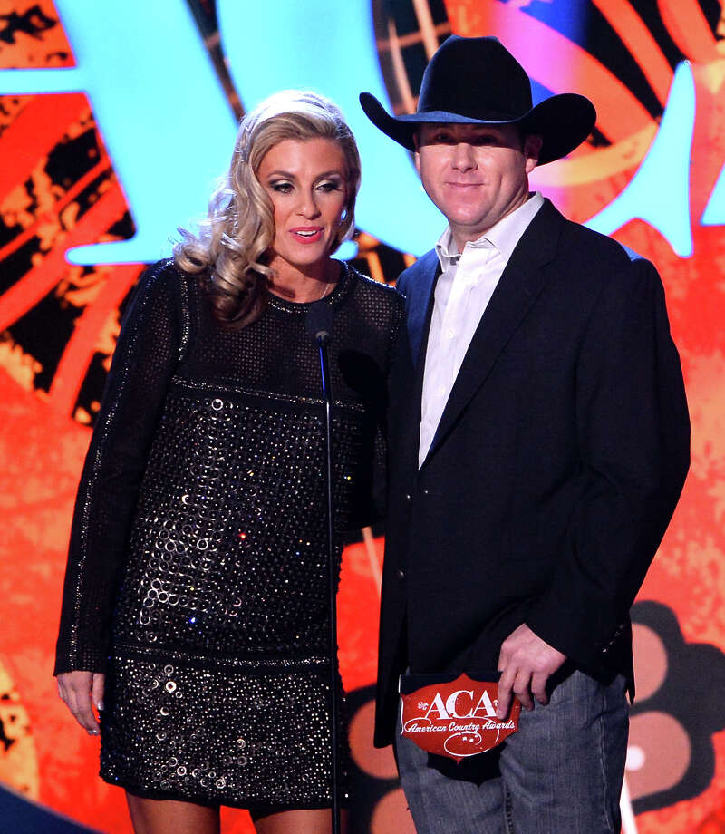 LAS VEGAS, NV - DECEMBER 10:  Presenters Shada Brazile (L) and Trevor Brazile speak onstage during the 2013 American Country Awards at the Mandalay Bay Events Center on December 10, 2013 in Las Vegas, Nevada. Photo: Ethan Miller, Getty Images / 2013 Getty Images