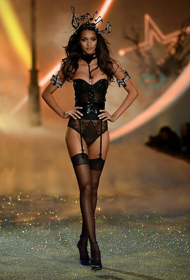 NEW YORK, NY - NOVEMBER 13:  Model Lais Ribeiro walks the runway at the 2013 Victoria's Secret Fashion Show at Lexington Avenue Armory on November 13, 2013 in New York City.  (Photo by Dimitrios Kambouris/Getty Images for Victoria's Secret) Photo: Dimitrios Kambouris, (Credit Too Long, See Caption)