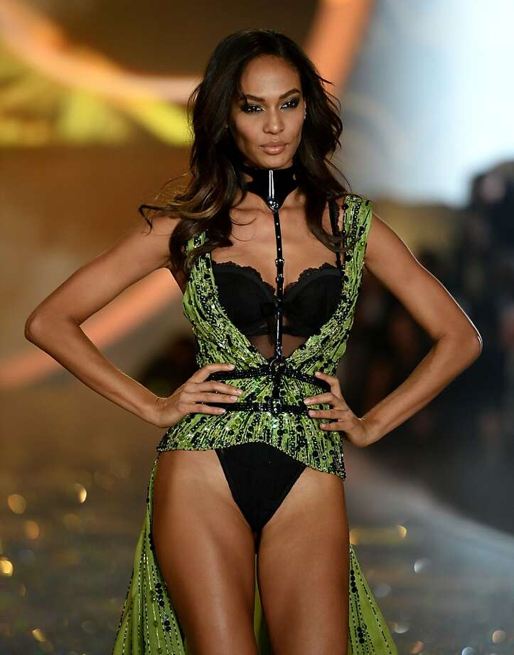 NEW YORK, NY - NOVEMBER 13:  Model Joan Smalls walks the runway at the 2013 Victoria's Secret Fashion Show at Lexington Avenue Armory on November 13, 2013 in New York City.  (Photo by Dimitrios Kambouris/Getty Images for Victoria's Secret) Photo: Dimitrios Kambouris, (Credit Too Long, See Caption)