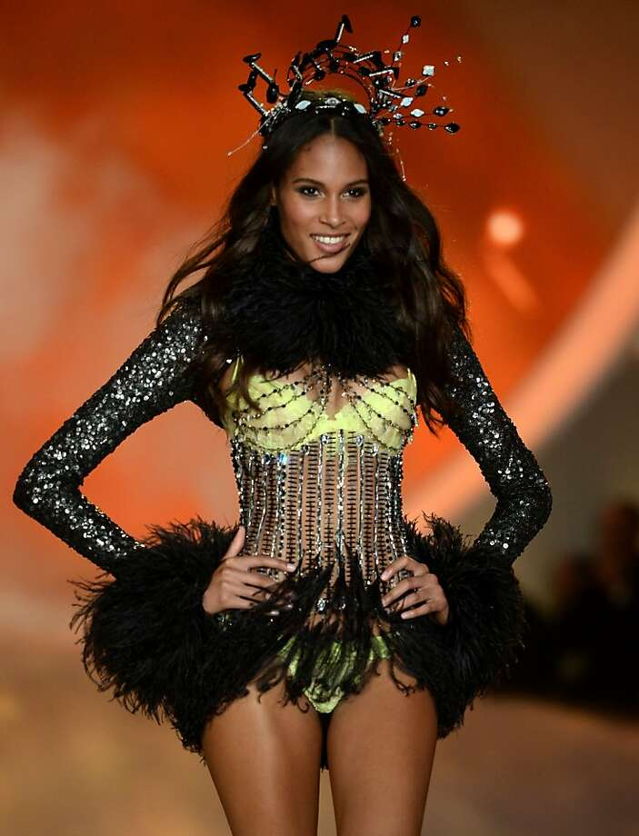 NEW YORK, NY - NOVEMBER 13:  Model Cindy Bruna walks the runway at the 2013 Victoria's Secret Fashion Show at Lexington Avenue Armory on November 13, 2013 in New York City.  (Photo by Dimitrios Kambouris/Getty Images for Victoria's Secret) Photo: Dimitrios Kambouris, (Credit Too Long, See Caption)