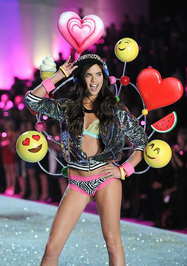 A model walks the runway during the 2013 Victoria's Secret Fashion Show at the 69th Regiment Armory on Wednesday, Nov. 13, 2013 in New York. (Photo by Evan Agostini/Invision/AP) Photo: Evan Agostini, Associated Press