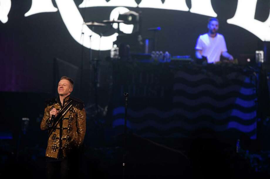 Seattle musicians Macklemore and Ryan Lewis perform at KeyArena for a hometown crowd. Photo: JOSHUA TRUJILLO, SEATTLEPI.COM / SEATTLEPI.COM