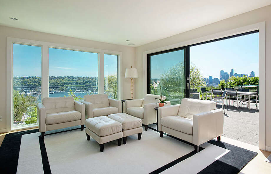 More of that living room and view.  Photos via MLS/Listing courtesy of  Realogics Sotheby's Int'l Rlty