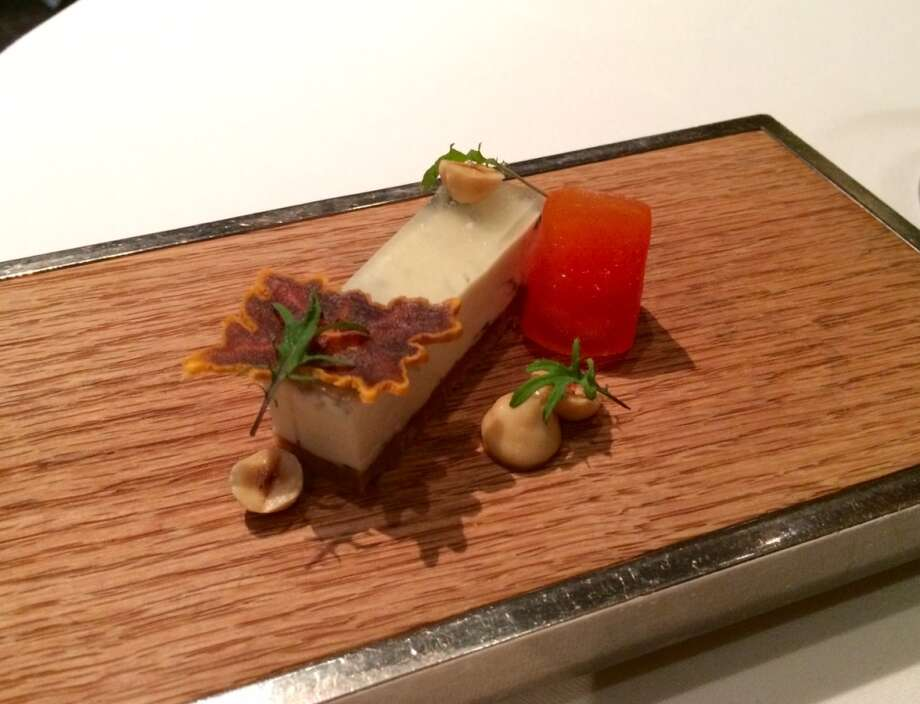 Cheese course:  Andante Acapella with dried persimmon and a glaze of Riesling gelee