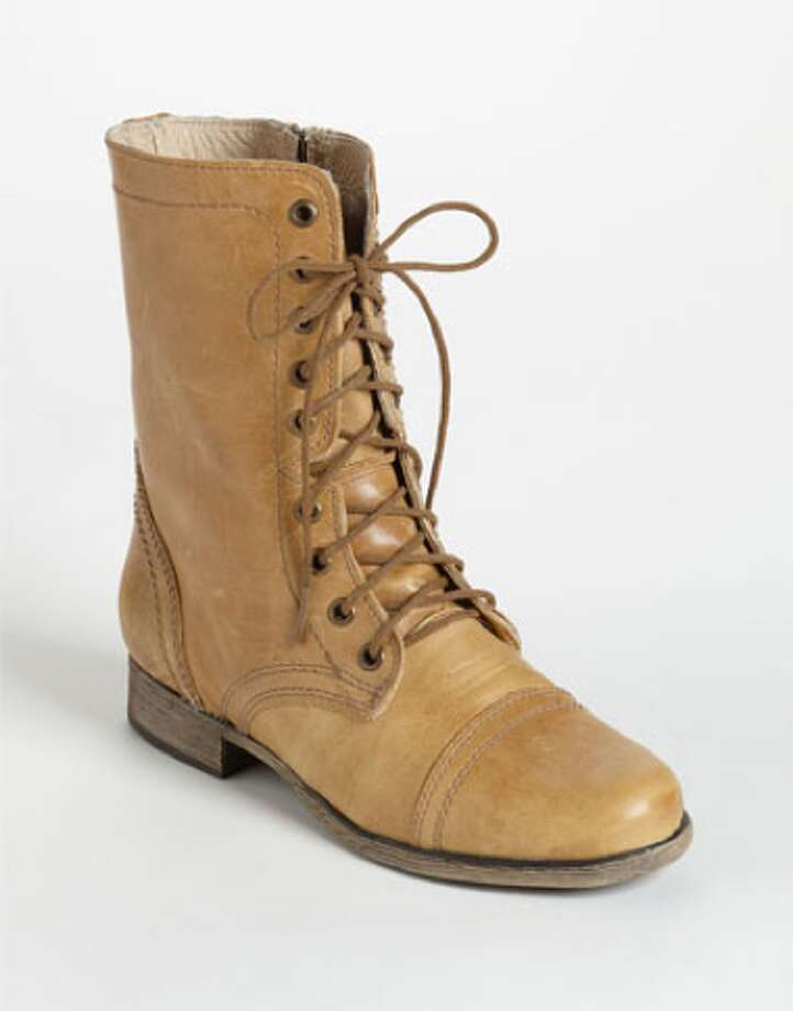 Combat Boots. These no-nonsense leather boots provide ample ankle support and grip for urban warriors navigating that concrete jungle—or just San Francisco's murky dating scene. Many favor the gender-neutral appeal of the classic Dr. Marten. Steven Madden Troopa Boot, Nordstrom ($99.95) Photo: Nordstrom