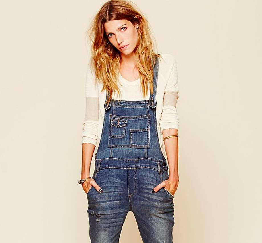"Overalls. Flattering? Maybe not always. But convenient and comfortable? No question. ""The trends that we saw fashion-wise, a lot of people pinned and blogged about, like overalls,"" Clark says. ""On Pinterest, there are all these models with overalls, for example."" 	 Free People washed denim overall ($98) Photo: Free People"