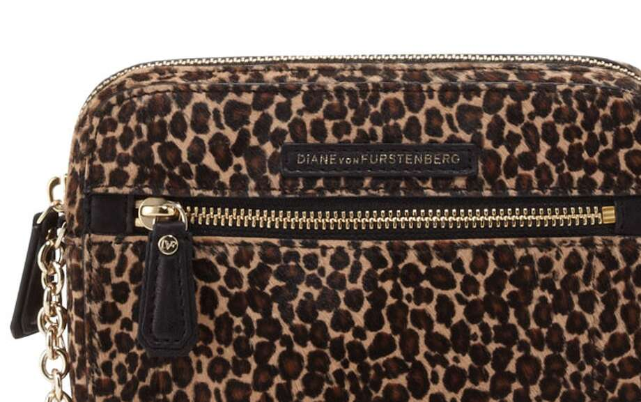 """Animal prints. We're officially calling the classic leopard print """"the new neutral.""""  Diane von Furstenberg cross-body bag  ($225) Photo: Neiman Marcus"""
