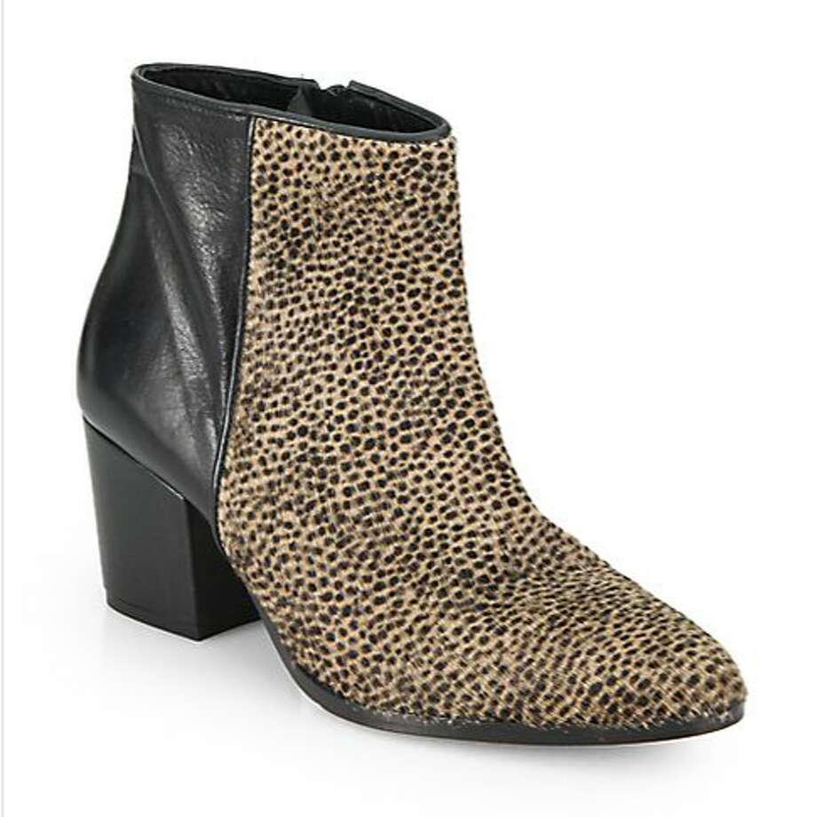 "Animal prints. We're officially calling the classic leopard print ""the new neutral.""  Freda Salvador ankle boots  ($595) Photo: Saks Fifth Avenue"
