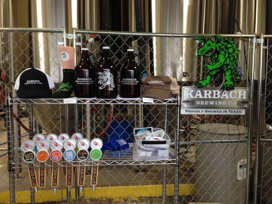Whittle your gift list and support a local brewery at the same time. Karbach Brewing is among those with a swag area open during tours and tastings. Photo: Ronnie Crocker, Beer, TX
