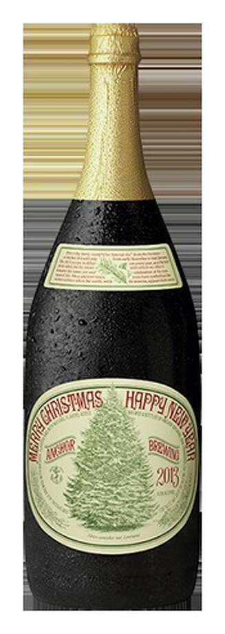 You can find Anchor Christmas Ale, arguably the most storied holiday beer in the U.S., in six-packs. But the 1.5-liter magnum (spotted at Whole Foods  for $17.99) makes a better impression. Photo: Anchorbrewing.com