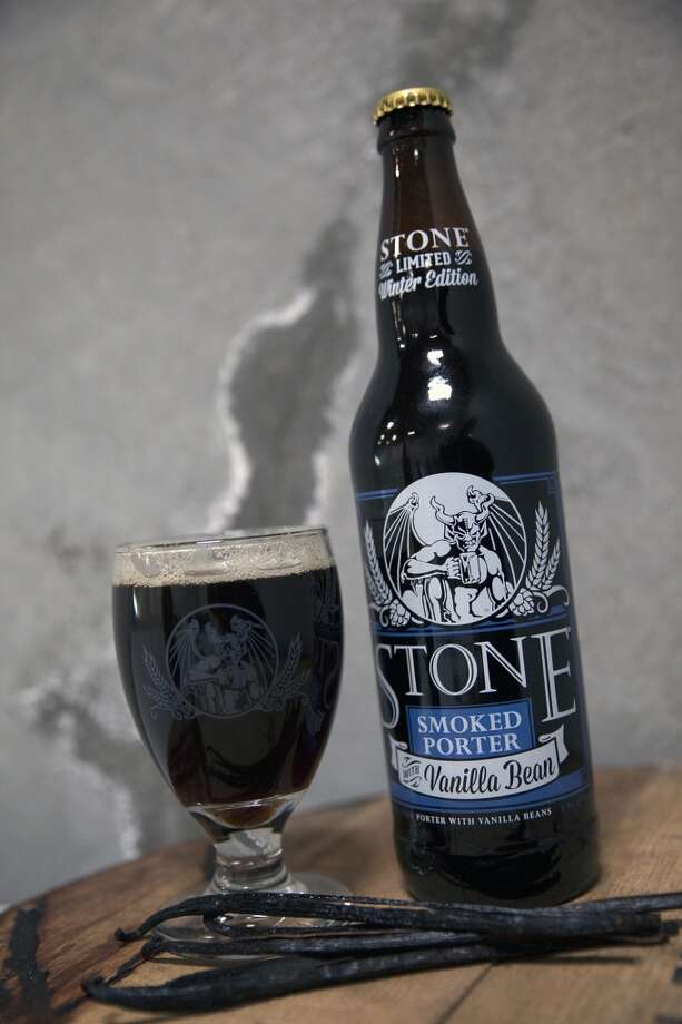 Stone Smoked Porter with Vanilla Beans -- like Anchor Christmas, it's from California but  can be found at better beer retailers locally -- is one of this year's best winter seasonal offerings, IMHO. Photo: Stone Brewing Co.