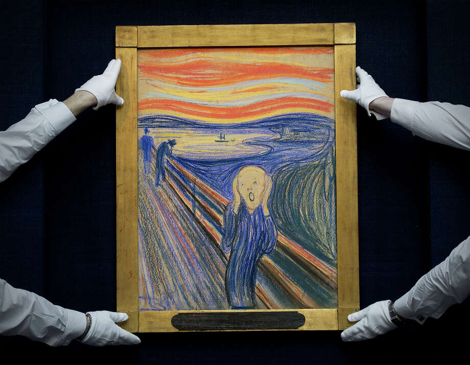 'The Scream' is Edvard Munch's most famous painting, which is often a subject of parody today, but his long career was influential in the German Expressionism movement in the 20th century. The Norwegian painter was born on December 12, 1863. Here is a look at Munch and his paintings. Photo: CARL COURT, AFP/Getty Images / 2012 AFP
