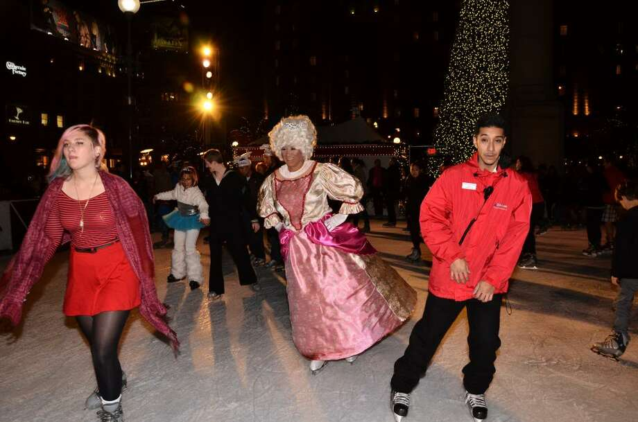 "Drag Queens on Ice, 2012. As Stevie Wonder once sang, ""Isn't She Lovely?"" (Don't ask the guy on the right.) Photo: Courtesy Drag Queens On Ice"