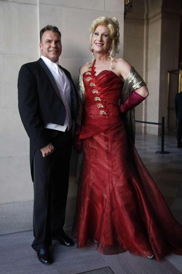 Richard Sablatura and Donna Sachet work their stylish looks at another San Francisco Opera Ball. Photo: Alex Washburn / The Chronicle