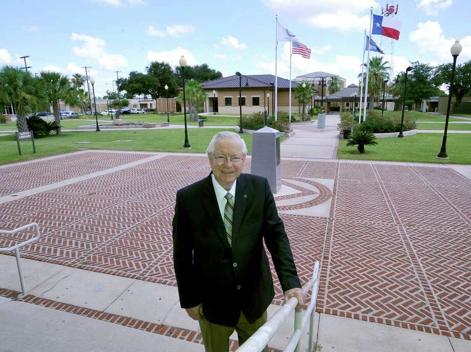 Lamar State College-Port Arthur president Sam Monroe was recently honored by Gov. Rick Perry for his longstanding position as the head of the two-year Lamar institution.   He has been with the college since starting in 1965 in the radio station.  Dave Ryan/The Enterprise Photo: Dave Ryan