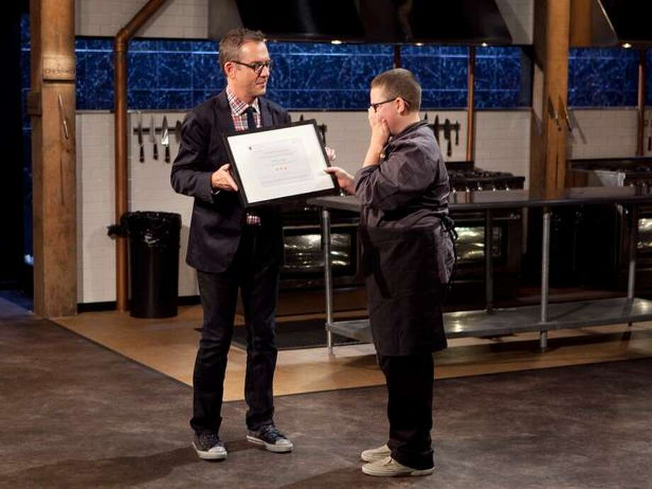 "13-year-old chef Hunter Zampa, of Stamford, recently came out the winner of Food Network's ""Chopped"" teen edition. Photo: David Lang"