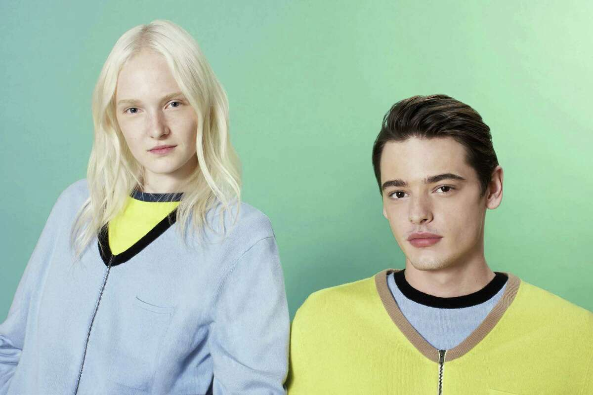 """Models wear clothes from Opening Ceremony based on the Spike Jonze film """"Her."""" Humberto Leon, a partner in the clothing company, collaborated with Jonze to create the line, which will be available in his stores."""