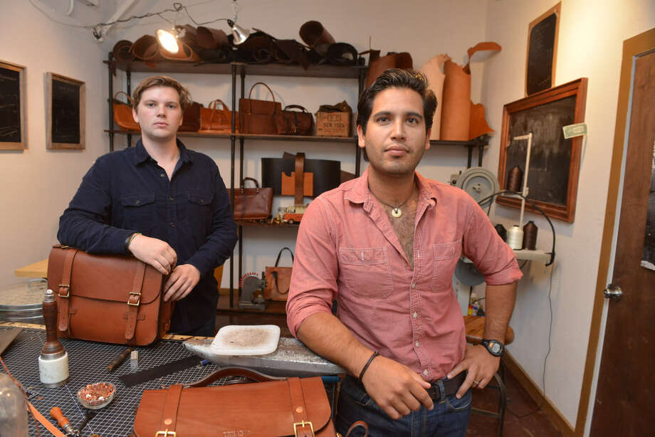 Falcon Craft-Rubio (left) and Guy Rubio show some of their products. Photo: Robin Jerstad / For The Express-News
