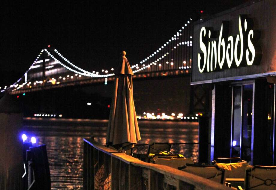 A view of the outside seating area at Sinbad's in San Francisco. Photo: Liz Hafalia