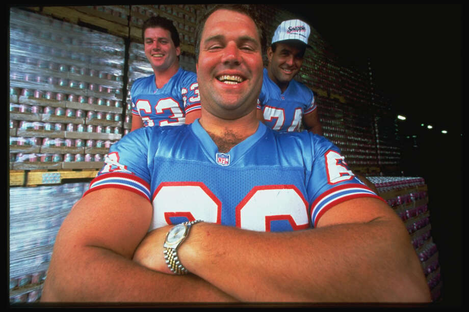 This portrait show Houston Oilers Doug Dawson (C), Mike Munchak (L) and Bruce Matthews (R).  Photo: William Snyder, Time & Life Pictures/Getty Image / William Snyder