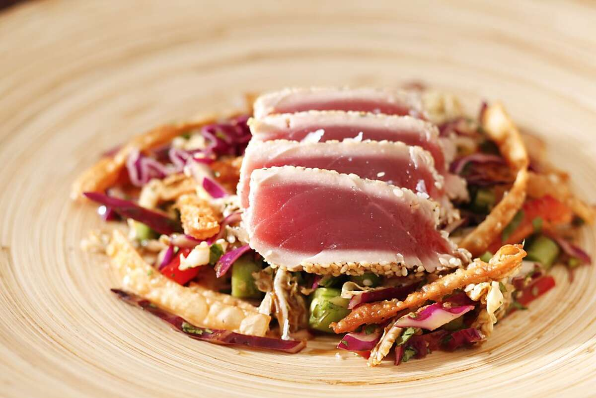 Seared Ahi Tuna With Vegetable Asian Slaw as seen in San Francisco, California, on Wednesday September 11, 2013. Food styled by Kathryn Scholte.
