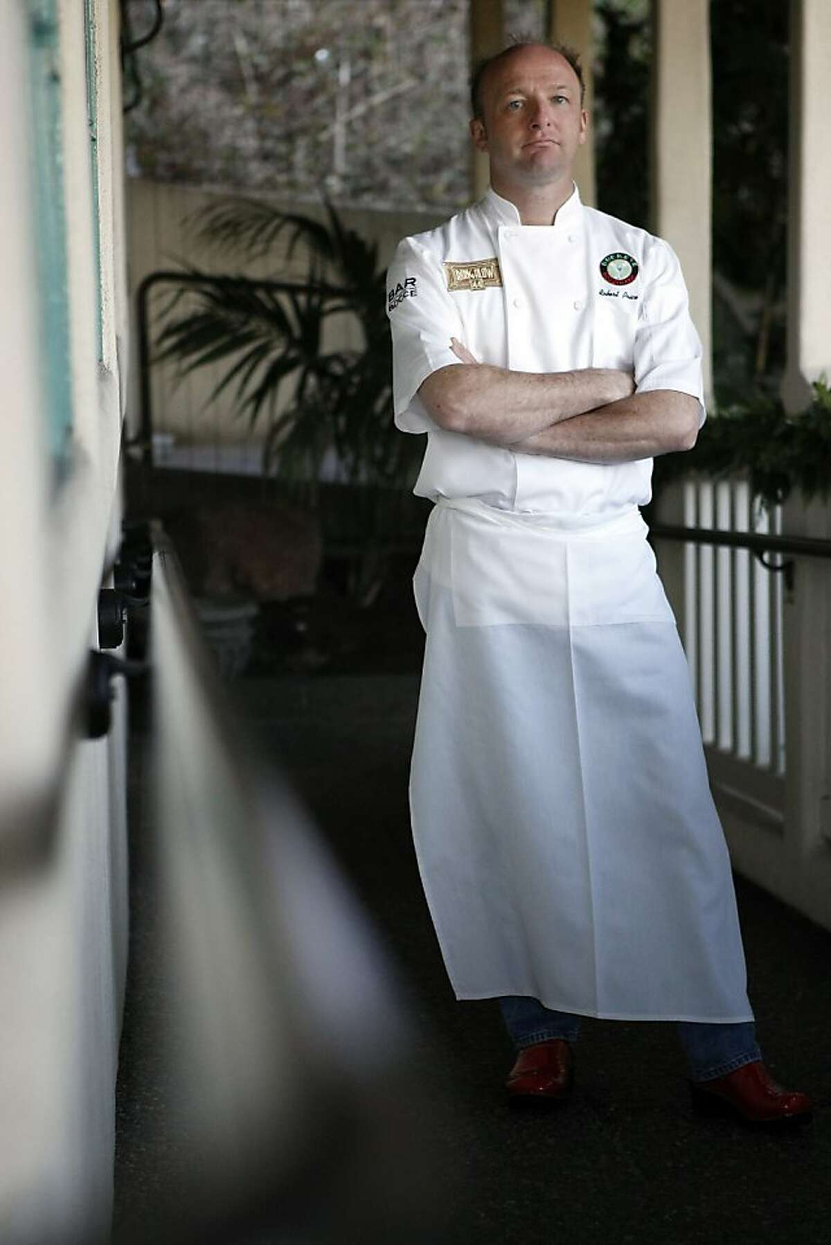 Chef Robert Price poses for a portrait at Buckeye Roadhouse restaurant in Mill Valley, CA, Tuesday, December 7, 2013.