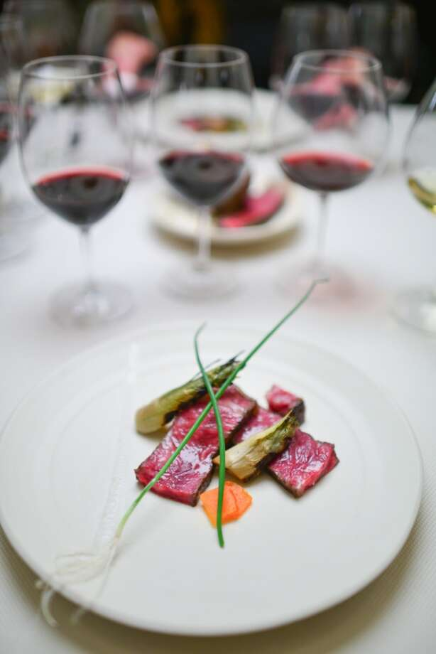5th Course: Beef Puntarelle. Beef aged about 100 days on the bone. Photo: Bonjwing Lee Photography